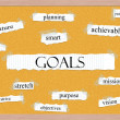 Goals Corkboard Word Concept — Stock Photo #19102671
