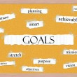 Goals Corkboard Word Concept — Stock Photo