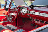 1958 Black Chevy Impala Interior — 图库照片