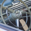 Stock Photo: Black 1952 Oldsmobile Super 88 Interior