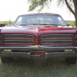Stock Photo: Red 1966 Pontiac Grill View