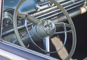 Black 1952 Oldsmobile Super 88 Interior — Stock Photo