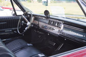 Red 1966 Pontiac Interior — Stock Photo