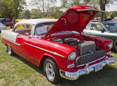 Red White 1955 Chevy Bel Air — Stock Photo