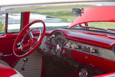 Red White 1955 Chevy Bel Air Interior — Stock Photo