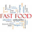 Fast Food Word Cloud Concept - Stock Photo