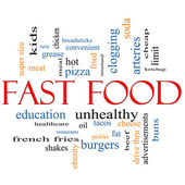 Fast Food Word Cloud Concept — Stock Photo