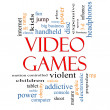 Video Games Word Cloud Concept — Foto Stock