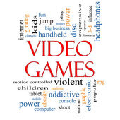 Video Games Word Cloud Concept — Stock Photo