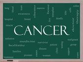 Concetto di nube parola cancro su una lavagna — Foto Stock