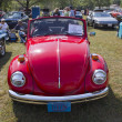 1971 Red VW Super Beetle - Stock Photo