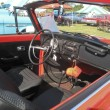 1971 Red VW Super Beetle Interior - Stock Photo