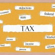 Tax Corkboard Word Concept — Foto Stock
