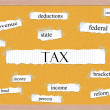 Tax Corkboard Word Concept — Stock Photo