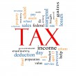 Tax Word Cloud Concept — Stock Photo