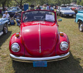 1971 Red VW Super Beetle — Stock Photo