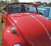 1971 Red VW Super Beetle Hood view — Stock Photo