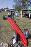 Red Drag Racer Front View — Stock Photo