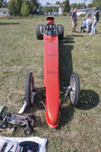 Red Drag Racer Low View — Stock Photo