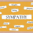 Sympathy Corkboard Word Concept — Stock Photo