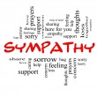 Stock Photo: Sympathy Word Cloud Concept in Red Caps
