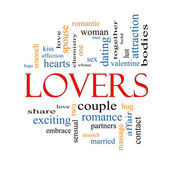 Lovers Word Cloud Concept — Stock Photo