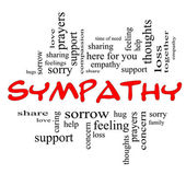 Sympathy Word Cloud Concept in Red Caps — Stock Photo