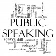 Public Speaking Word Cloud Concept in Black and White — Stock Photo #19602709