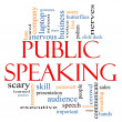 Public Speaking Word Cloud Concept - Stock Photo