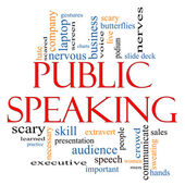 Public Speaking Word Cloud Concept — Stok fotoğraf