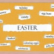 Easter Corkboard Word Concept — Stock Photo