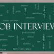 Job Interview Word Cloud Concept on a Blackboard — Stock Photo