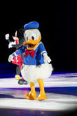 Donald Duck on skates — Stock Photo