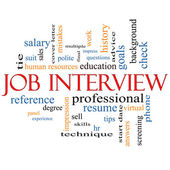 Job Interview Word Cloud Concept — Stock Photo