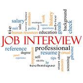 Job Interview Word Cloud Concept — Stock Photo