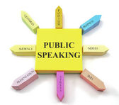Public Speaking Sticky Notes — Stock Photo