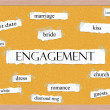 Stock Photo: Engagement Corkboard Word Concept
