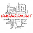 Engagement Word Cloud Concept in Red caps — Stock Photo