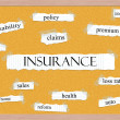 Insurance Corkboard Word Concept — Stock Photo