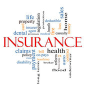 Insurance Word Cloud Concept — Stock Photo