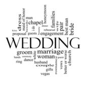 Wedding Word Cloud Concept in Black and White — Stock Photo