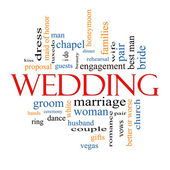 Wedding Word Cloud Concept — Stock Photo