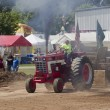 Stock Photo: Red International Turbo Tractor
