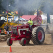 Stock Photo: Red International Turbo Tractor Pulling