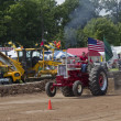 Stock Photo: Shiny Red International Turbo Tractor Pulling