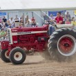Stock Photo: Shiny Red International Turbo Tractor