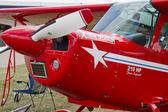 Czerwony akrobacji samolot australia z bliska — Zdjęcie stockowe