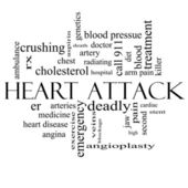 Heart Attack Word Cloud Concept in black and white — Stock Photo