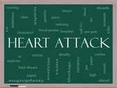 Heart Attack Word Cloud Concept on a Blackboard — Stock Photo