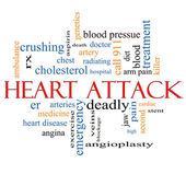 Heart Attack Word Cloud Concept — Stock Photo